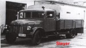 Am Anfang der 60er Jahre wurde ein Lastkraftwagen ( Typ: Steyer ) vom Fischhandel aufgekauft und als Feuerwehrfahrzeug umgebaut. Das Fahrzeug wurde ca. bis 1972 in der Feuerwehr genutzt.